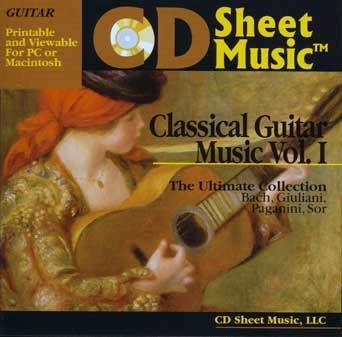 Classical Guitar Music vol.1 [CD-ROM] - Sheet Music