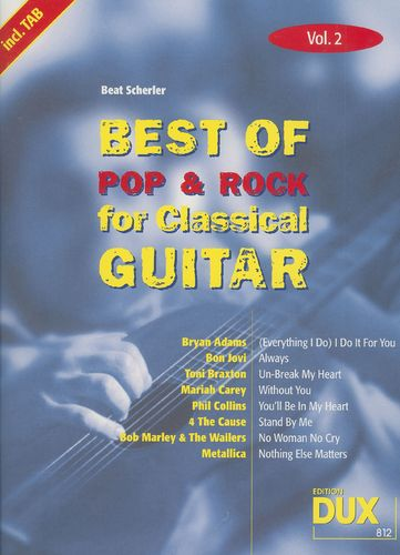 Best Of Pop & Rock for Classical Guitar Vol. 2 – Beat Scherler