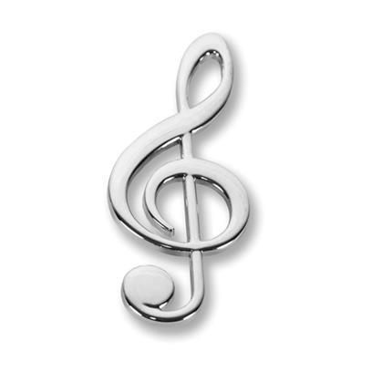 Magnet: G clef, silver