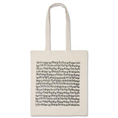 Tote bag, white, note figures