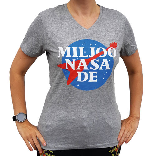 Miljoonasade space gray t shirt (Lady fit)
