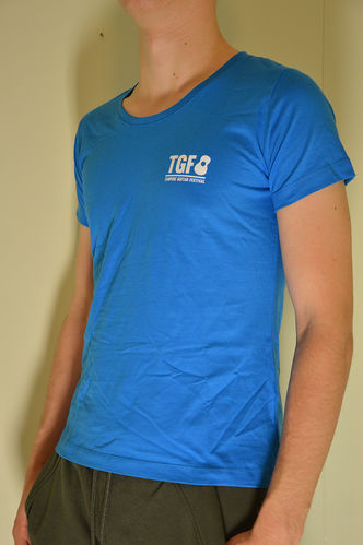 Blue TGF t-shirt, softee (Regular and Lady fit)
