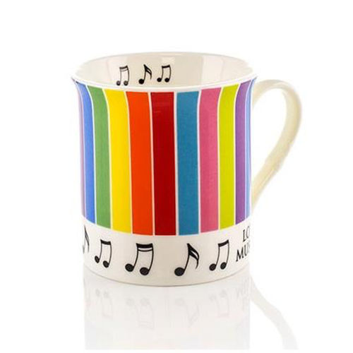 Colour Block Mug with Stripes