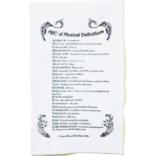 Tea Towel - ABC Of Music