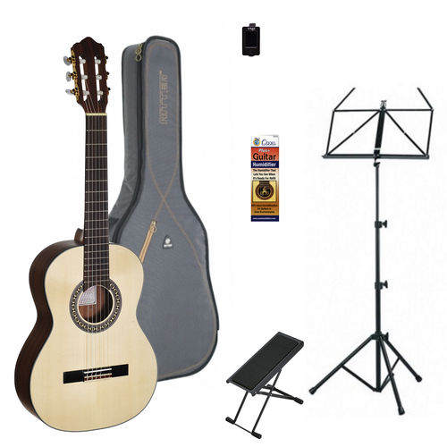 Complete 3/4 size bundle for a beginning classical guitarist