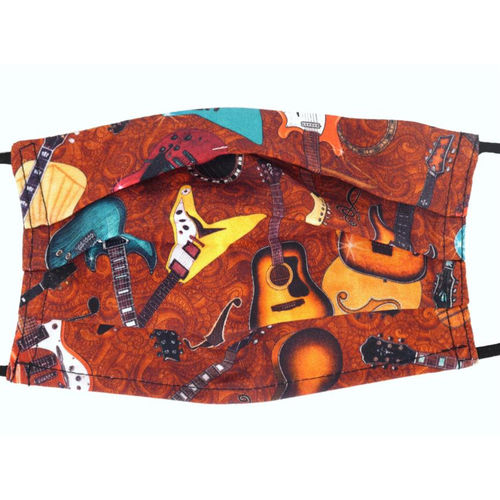 Face Covering Mask – Different Guitars, Orange (Design 30)